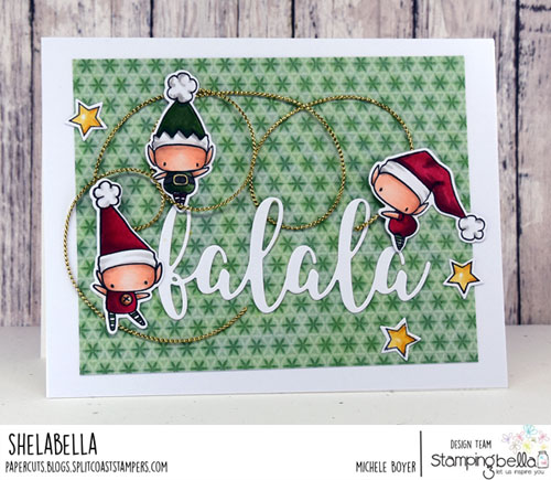 Stamping Bella Little Bits Christmas Collection Set of Elves
