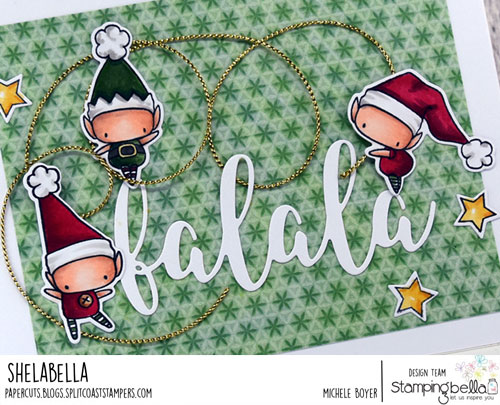 Stamping Bella Little Bits Christmas Collection Set of Elves (close-up)