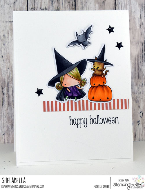 Stamping Bella Littles Pumpkin with a Witchy on Top