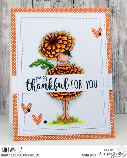 Stamping Bella Tiny Townie Garden Girl Marigold