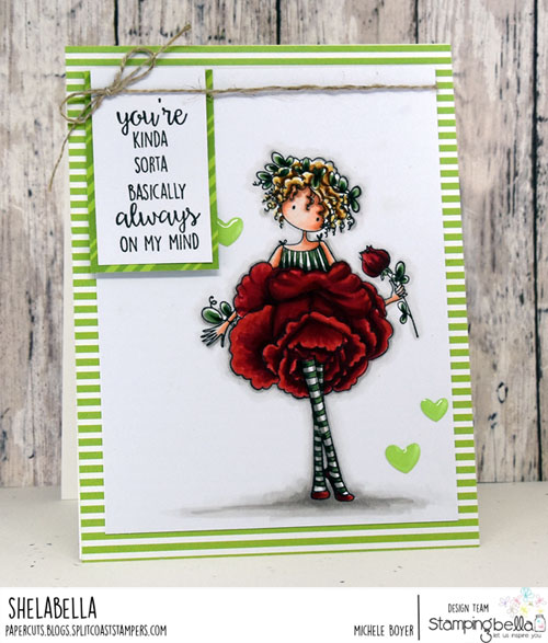 Stamping Bella Tiny Townie Garden Girl Rose