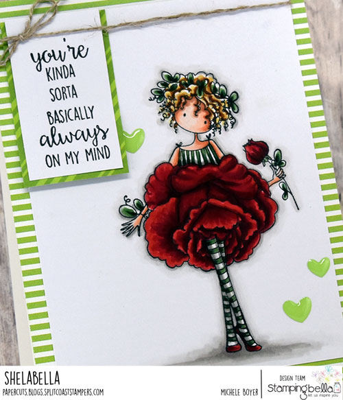 Stamping Bella Tiny Townie Garden Girl Rose (close-up)
