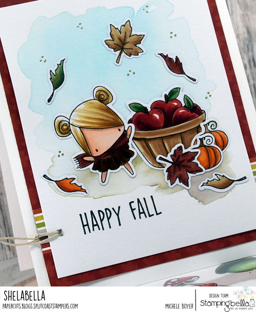 Stamping Bella Little Bits Fall Fruit and Nature (close-up)