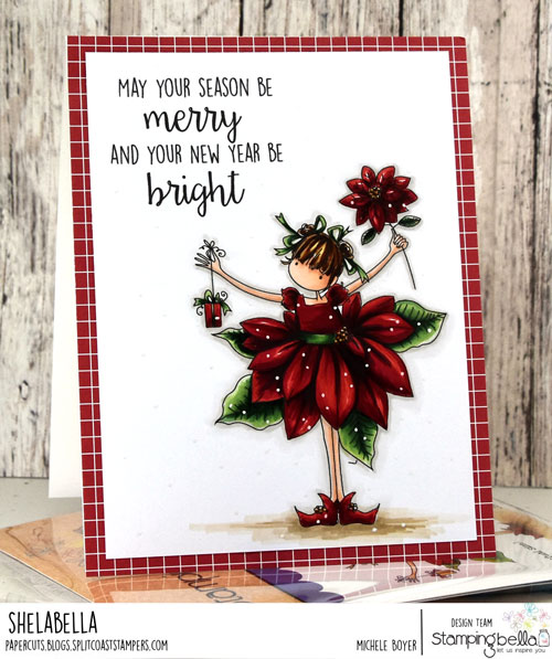 Stamping Bella Tiny Townie Pamela the Poinsettia