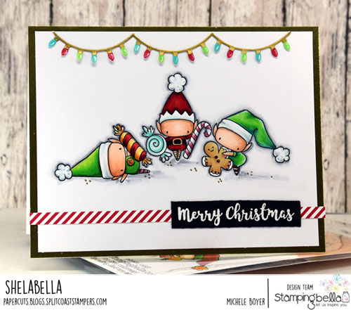 Stamping Bella The Littles Elves with Treats