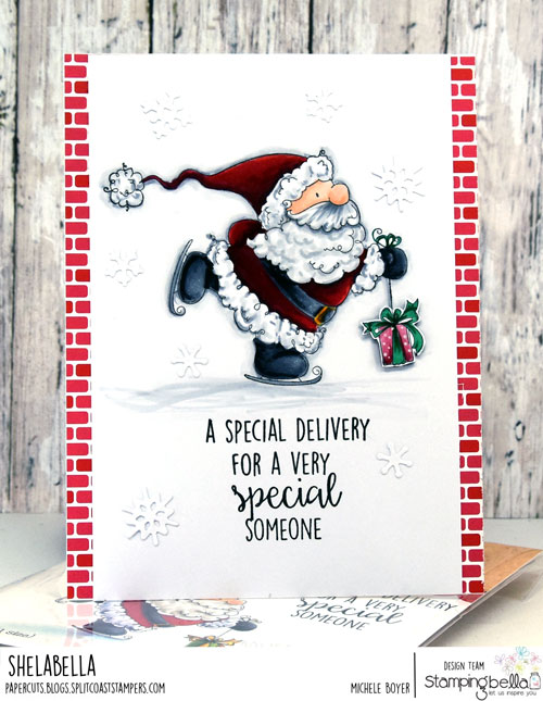 Stamping Bella Santa's Speedy Delivery