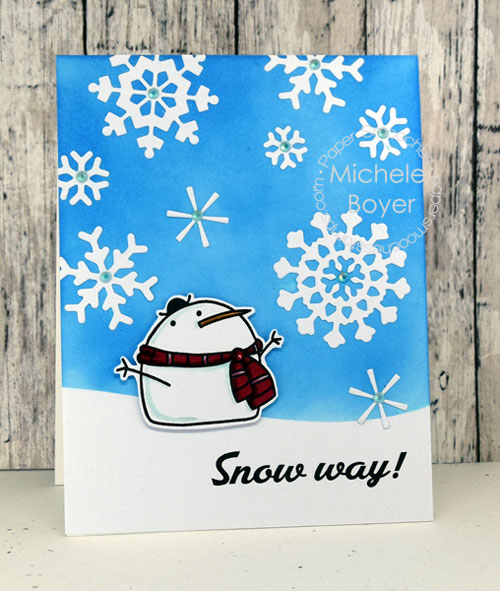 Paper Smooches Swanky Snowdudes and Snowflakes dies