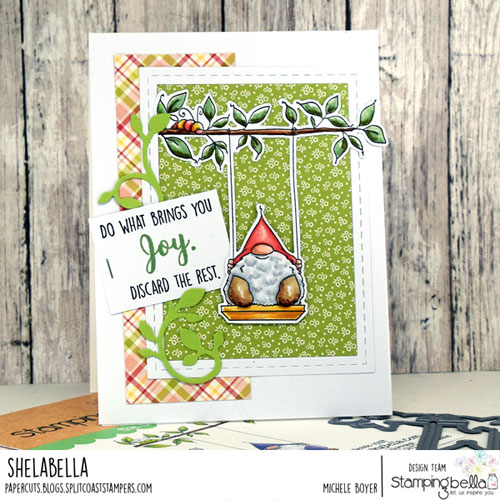 Stamping Bella Gnome on a Swing