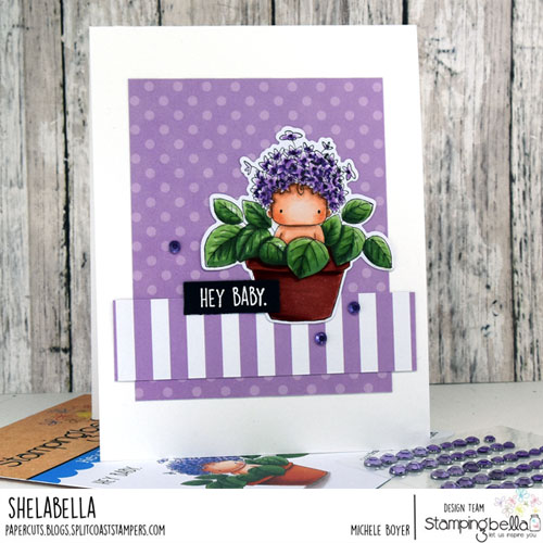 Stamping Bella Hydrangea Baby in a Pot