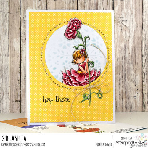 Stamping Bella Tiny Townie Garden Girl Carnation