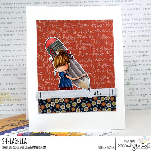 Stamping Bella Tiny Townie Penelope has a Pencil