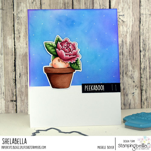Stamping Bella Peony Baby in a Pot