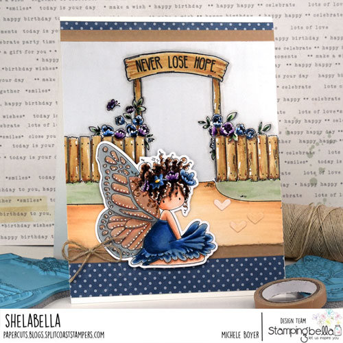 Stamping Bella Bess the Butterfly and Garden Backdrop