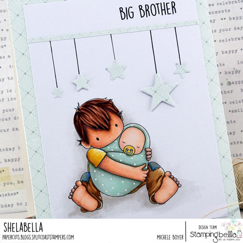 Stamping Bella Tiny Townie Big Brother (close-up)