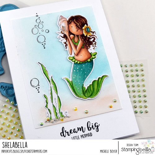 Stamping Bella Tiny Townie Mermaid Set and Under the Sea Sentiment (close-up)