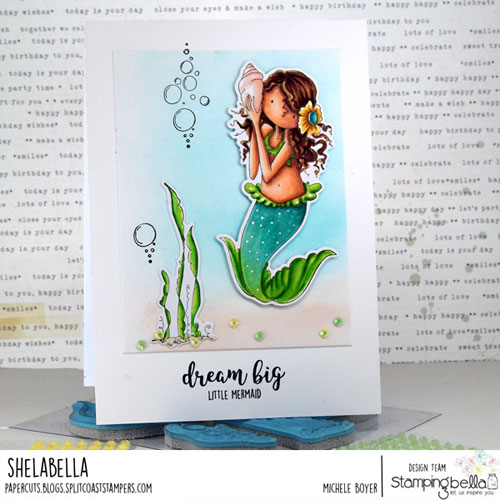 Stamping Bella Tiny Townie Mermaid Set and Under the Sea Sentiment