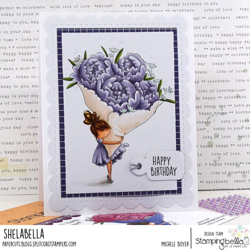 Stamping Bella Tiny Townie with a Bouquet