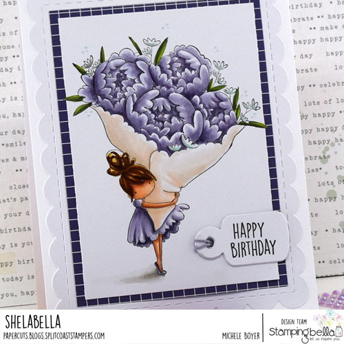 Stamping Bella Tiny Townie with a Bouquet (close-up)