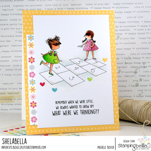 Stamping Bella Tiny Townies Playing Hopscotch