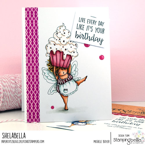 Stamping Bella Edna with a Cupcake on Top