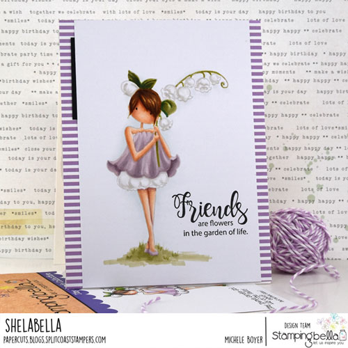 Stamping Bella Garden Girl Lily of the Valley