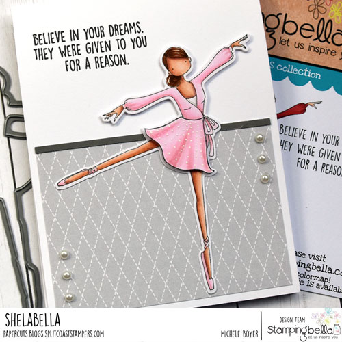 Stamping Bella Uptown Girl Stephanie Loves Ballet (close-up)