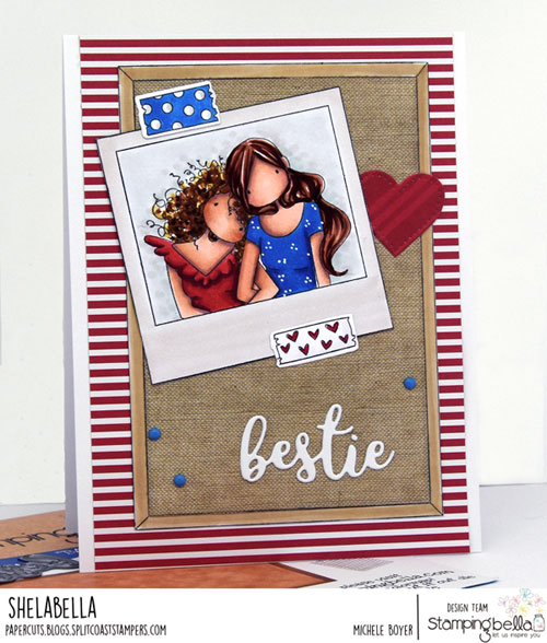Stamping Bella Snapshots-Lean on Me, Corkboard Backdrop, Washi Tape