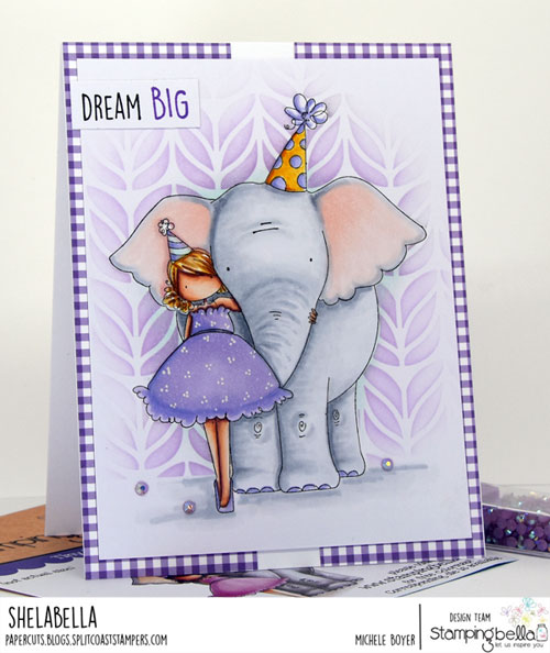 Stamping Bella Tiny Townie with an Elephant