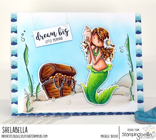 Stamping Bella Tiny Townie Mermaid, Under the Sea Backdrop