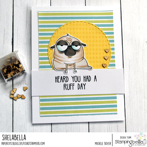 Stamping Bella Oddball Pug/Dog Sentiment Set