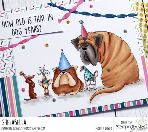 Stamping Bella Party Dogs