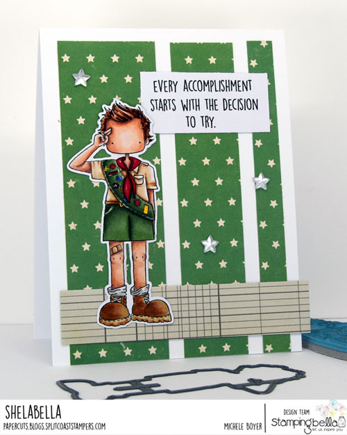 Stamping Bella Tiny Townie Boy Scout