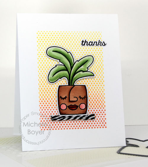 Paper Smooches Posh Planters/Icons dies and Hot Dot stencil