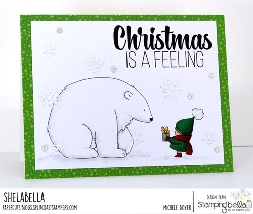 Stamping Bella Bundle Girl with a Polar Bear