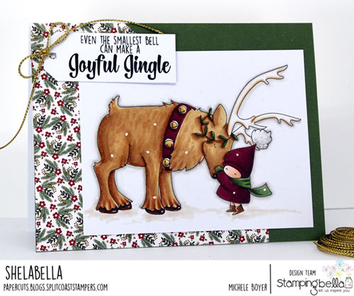 Stamping Bella Bundle Girl with Reindeer