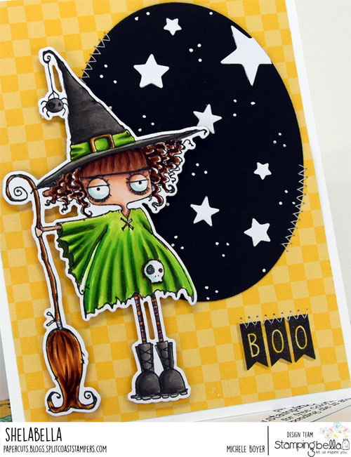 Stamping Bella Oddball Witch (close-up)