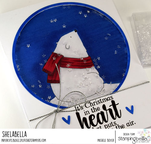 Stamping Bella Polar Bear Wishing Upon a Star (close-up)