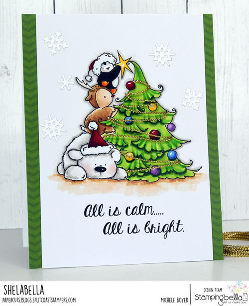 Stamping Bella The Penguin On a Reindeer On a Polar Bear