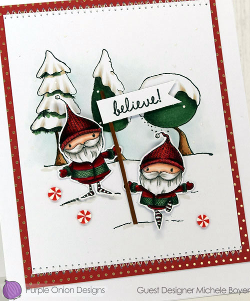 Purple Onion Designs Emmett & Emerson, Snowy Trees close-up