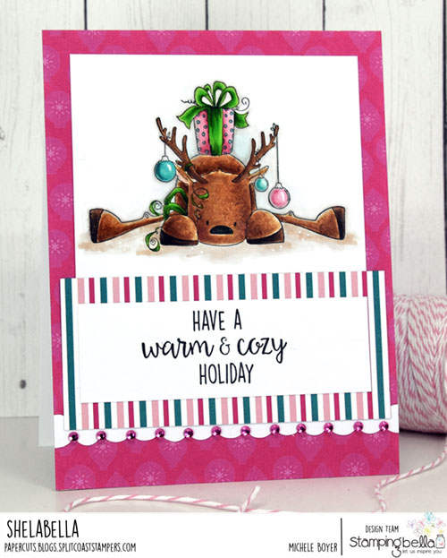 Stamping Bella Rudolph with a Present on Top