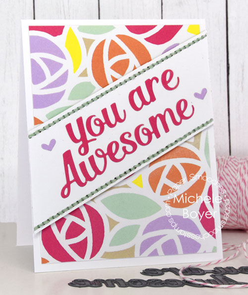Paper Smooches Awesome & Amazing dies, Rainbow Sherbet paper pack