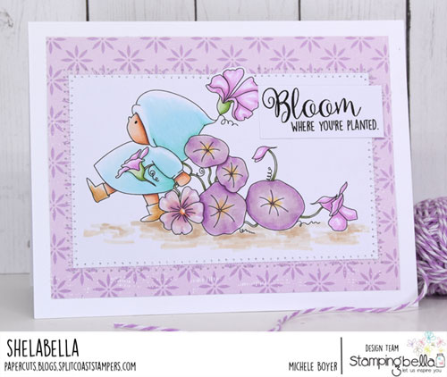Stamping Bella Bundle Girl Marching with Flowers