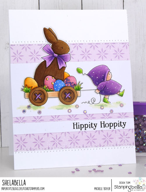 Stamping Bella Bundle Girl with a Chocolate Bunny