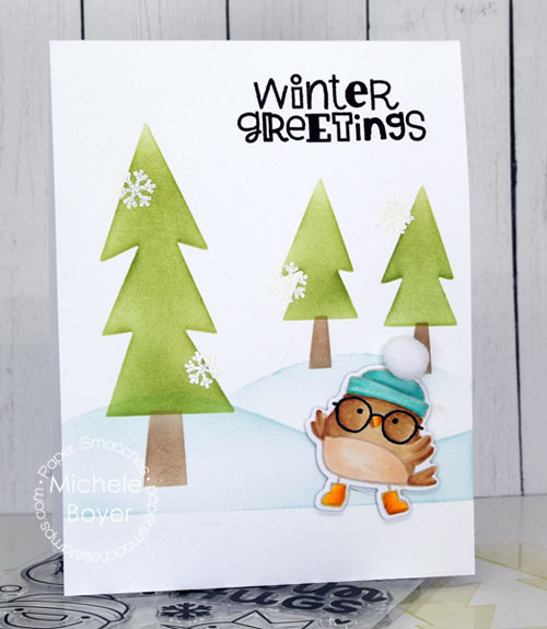 Paper Smooches Winter Greetings and Scene Builder stencil