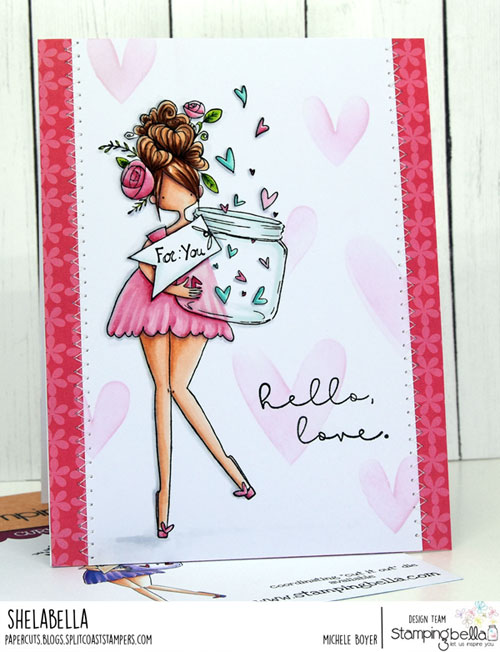 Stamping Bella Curvy Girl with a Jar of Hearts