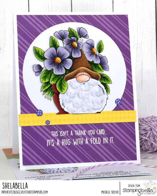 Stamping Bella Flowery Gnome