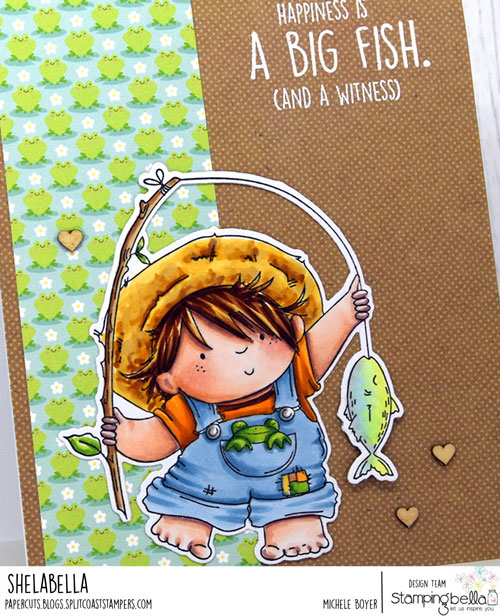 Stamping Bella Fishing Squidgy (close-up)
