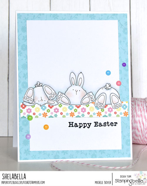 Stamping Bella Row of Bunny Wobbles