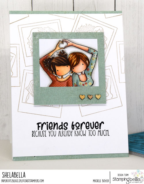 Stamping Bella Snapshots I Heart You/I Miss Your Face Sentiment set