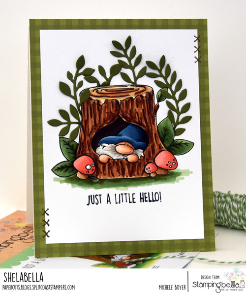 Stamping Bella Gnome in a Tree
